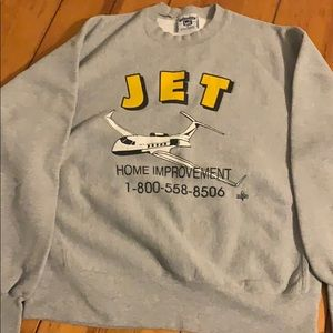 gray company sweatshirt